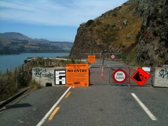A coastal road between Lyttelton and Sumner, New Zealand. Credited to Lauren DiPerna