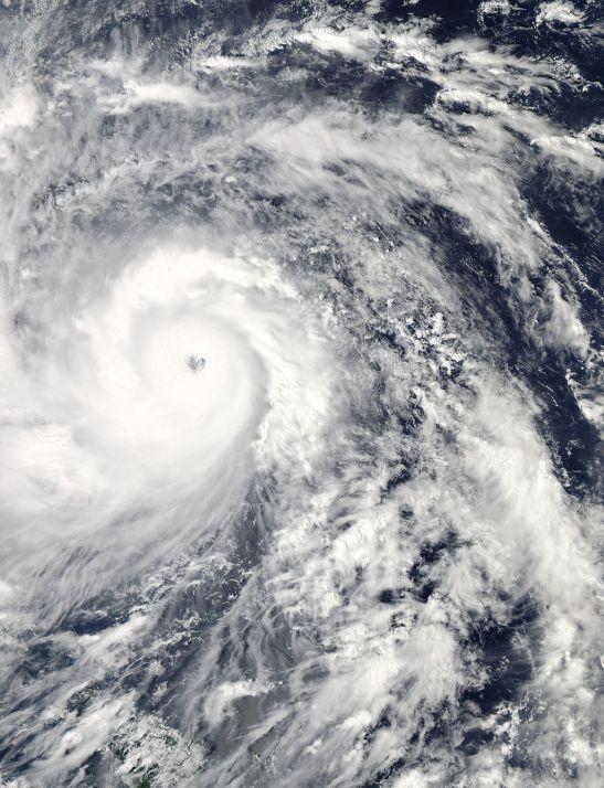 Typhoon Haiyan over the Pacific//NASA
